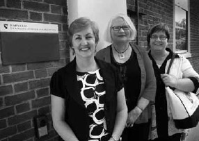Newly appointed principals: (l-r): Gai Beecher, Lynn Petersen and Pam Rosser